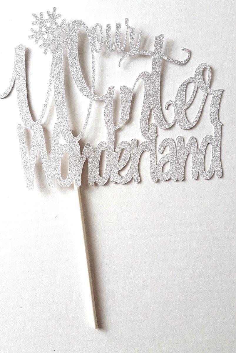 Hochzeitstorte Topper, Winter Hochzeitstorte Topper, Schneeflocke Cake Topper, unser Winter Wonderland, Winter Hochzeit Party Decor   – winter wedding ideas