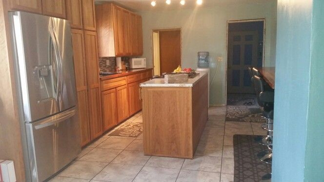 New kitchen, lots of wood