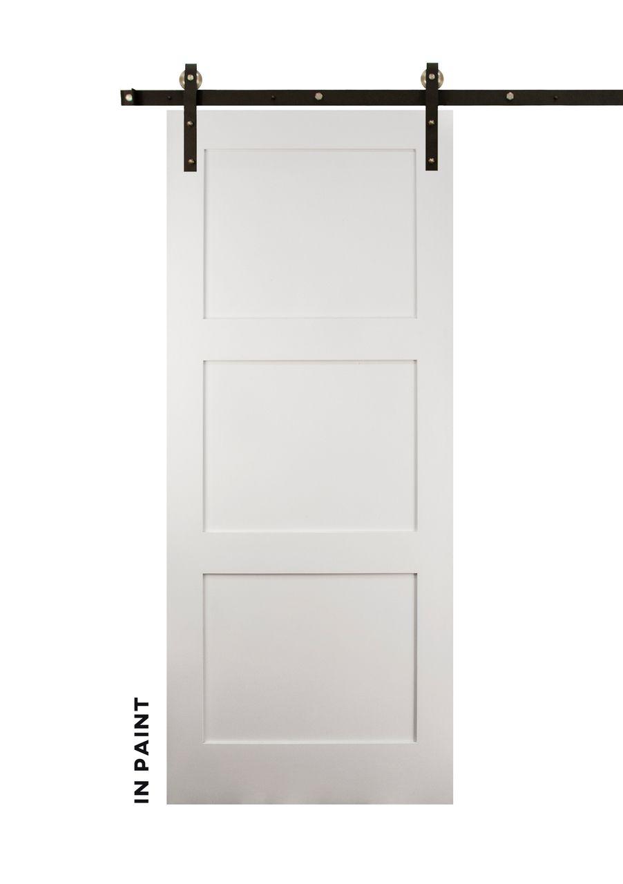 Craftsman 3 Panel Sliding Wood Doors Barn Door Hardware Wood Doors