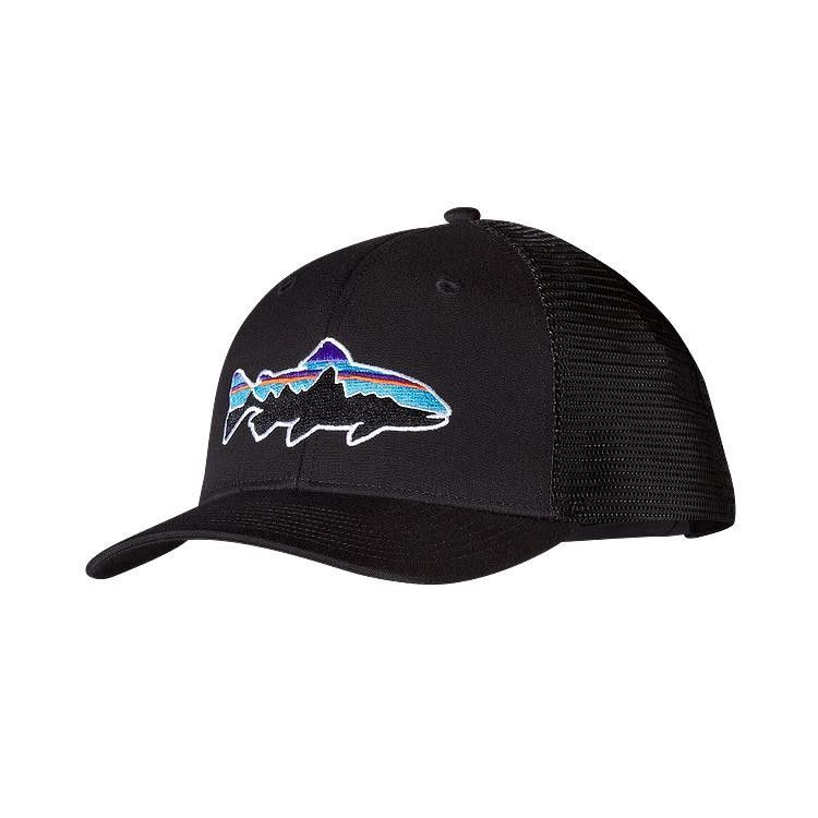 Patagonia Fitz Roy Trout Trucker Hat- Black from Shop Southern Roots ... 935eedb84c1e