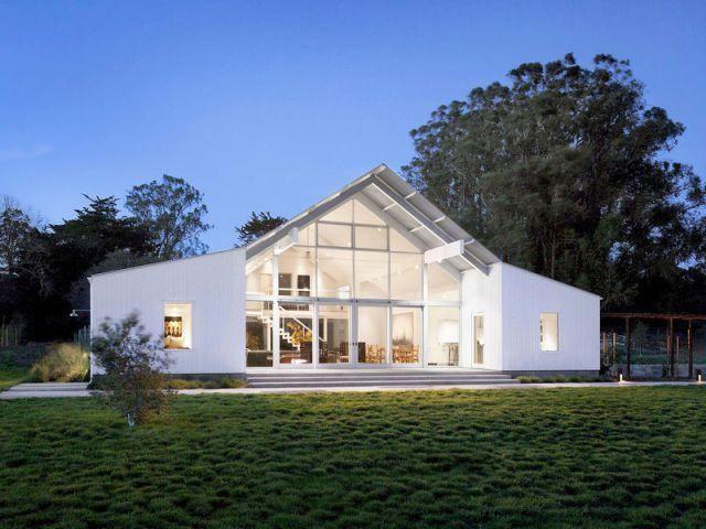 Un vieux ranch américain transformé en maison écologique
