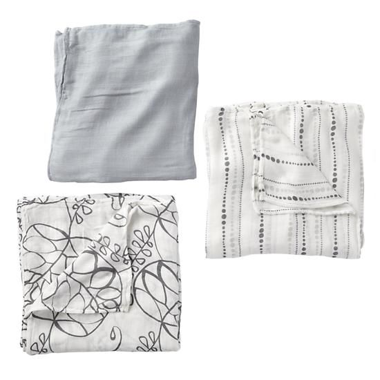 Aden And Anais Swaddle Blankets Custom The Land Of Nod  Baby Gear Aden  Anais Grey Swaddle Blankets In Design Ideas