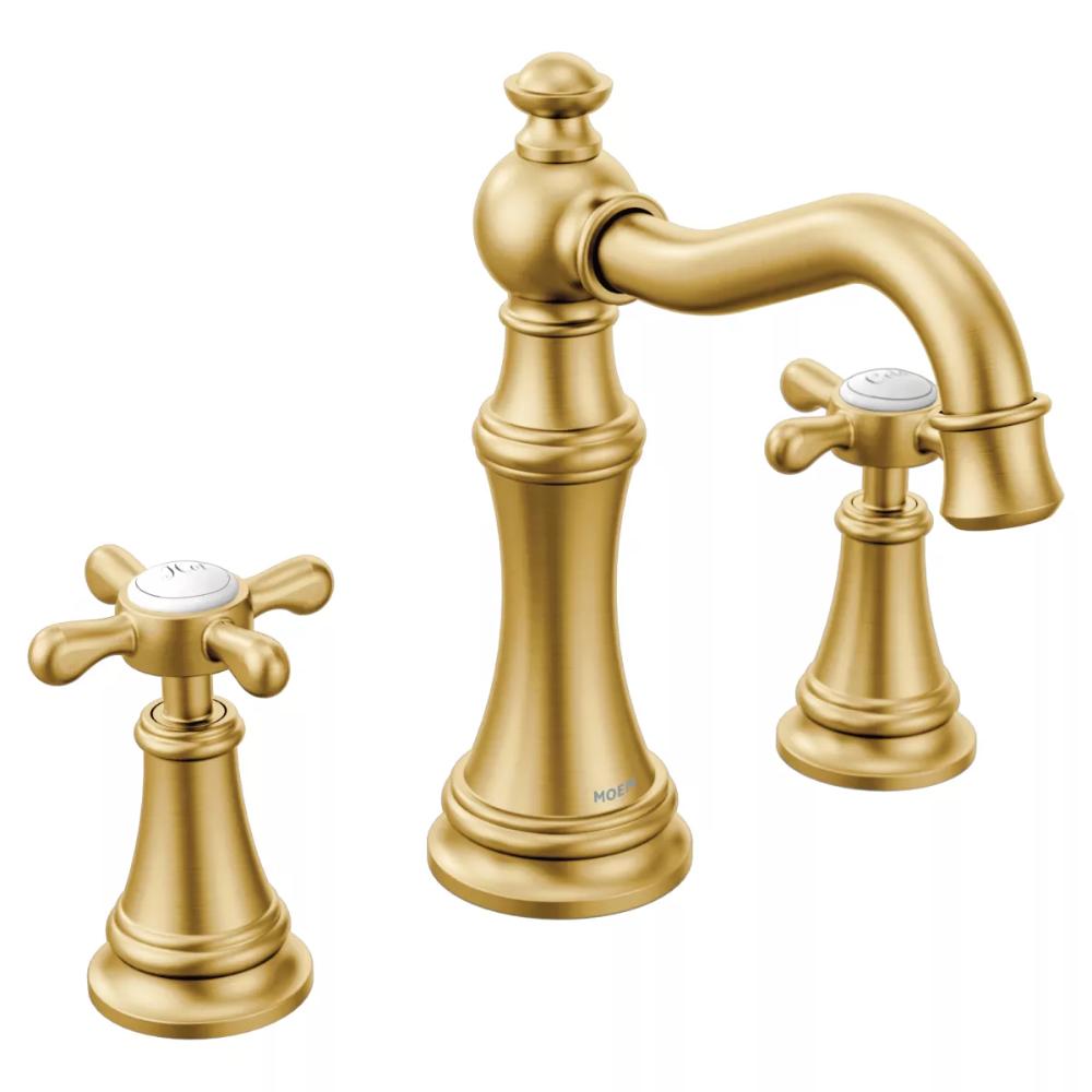 Moen Ts42114bg Weymouth Double Handle Widespread Build Com Bathroom Faucets Widespread Bathroom Faucet Faucet [ 1000 x 1000 Pixel ]