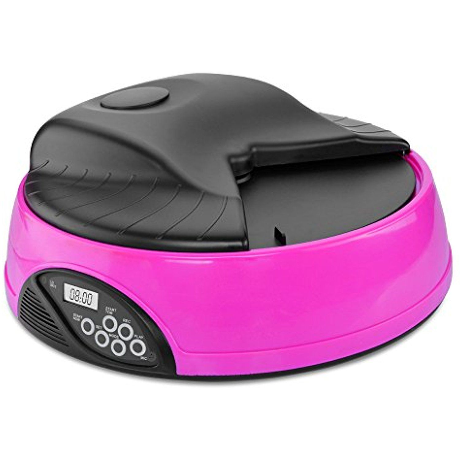 Flexzion Automatic Dog Feeder 4 Meals (Pink) Programmable