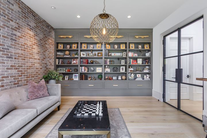 Have you been considering adding a home office to your space?  Allow us to help you design one from the ground up with custom bookshelves from our Keystone Millworks Classic Luxury Collection.nn#homeoffice #home #homedesign #homedeco #homerenovation #homeinspiration #inspiringhomes #atlantabyrifaat #robertarifaat