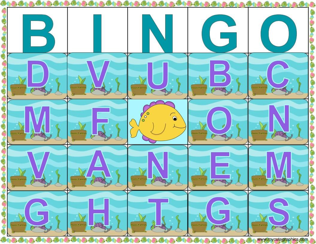 Letter Id Goldfish Bingo