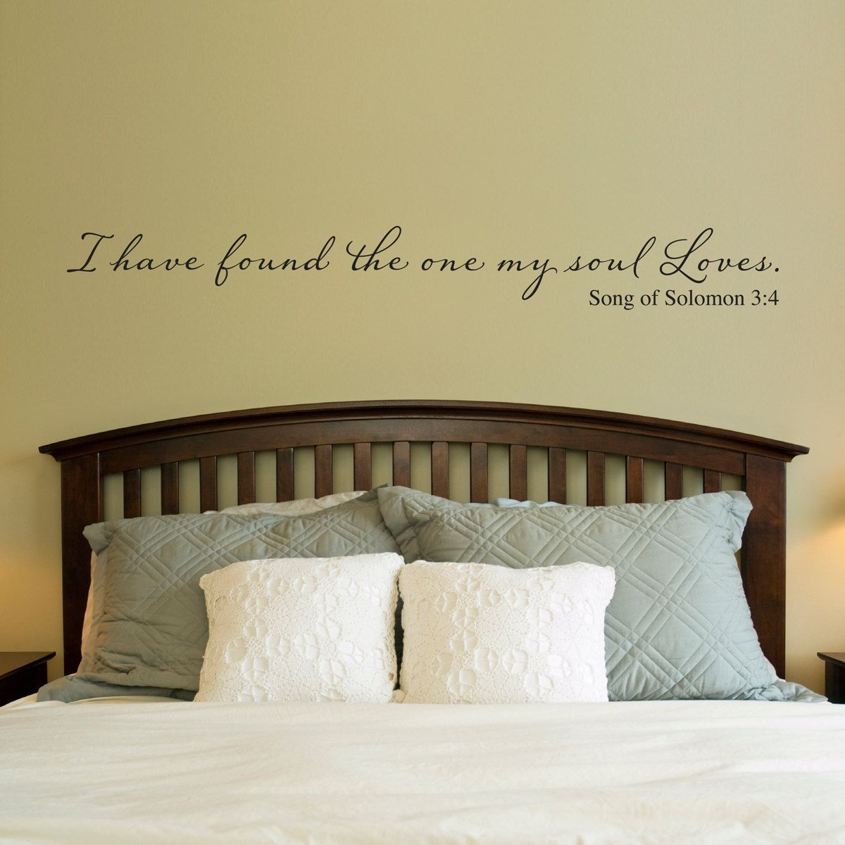 Christian Wall Decal - I have found the one my soul loves - Wall ...