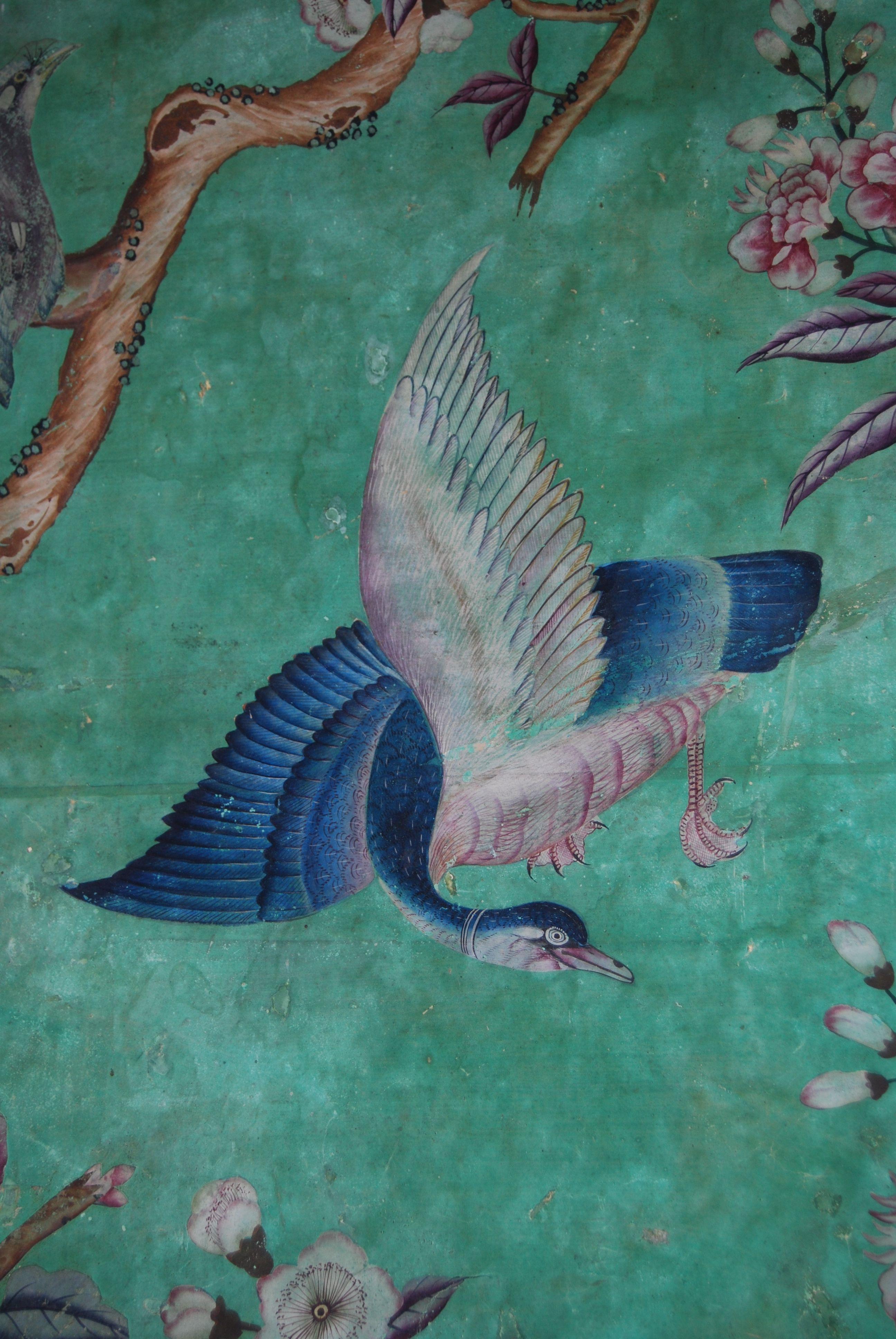 Fresco Birdcage Red Wallpaper Red wallpaper, Green