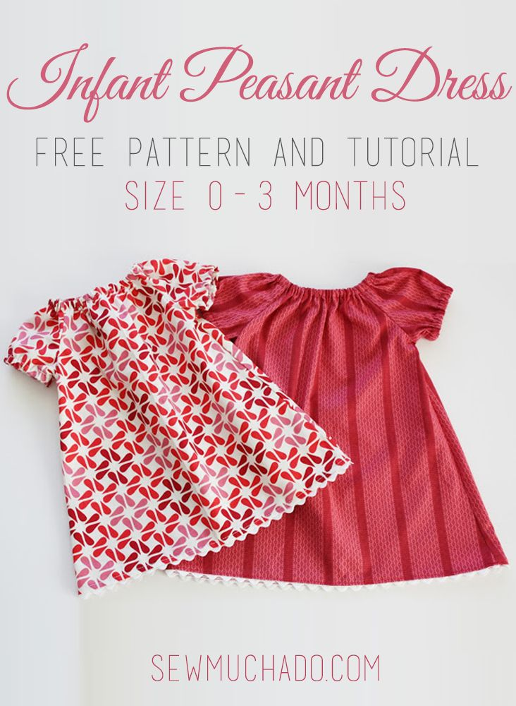 Infant Peasant Dress Free Pattern Create With Sew Much Ado