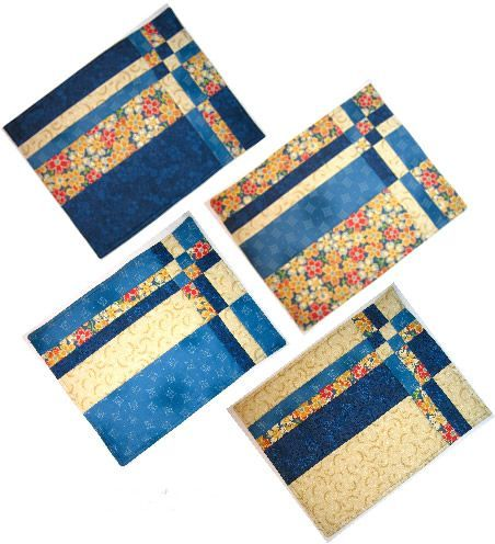 Take Four Placemat Set Pattern Cf 224 Quilt As You Go Pinterest
