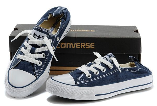b286decfebcd  converse Hot Converse All Star Classic Chuck Taylor Shoreline slip-ons Low  Tops Blue Canvas Sneakers