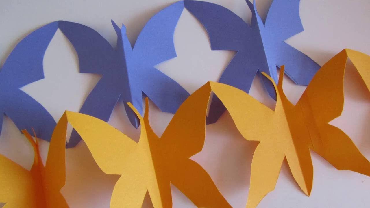 Photo of Come realizzare una ghirlanda di farfalle di carta