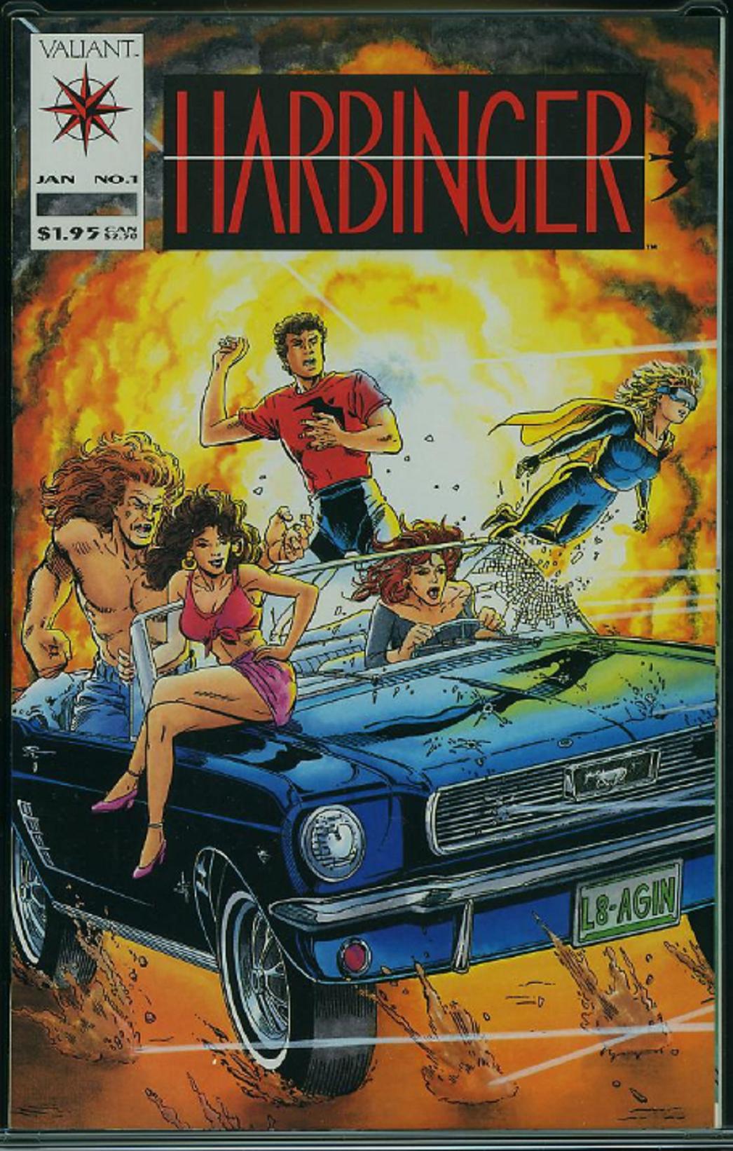 Harbinger 1 January 1992 David Lapham Bob Layton C A Valiant Comics Dc Comics Collection Comics