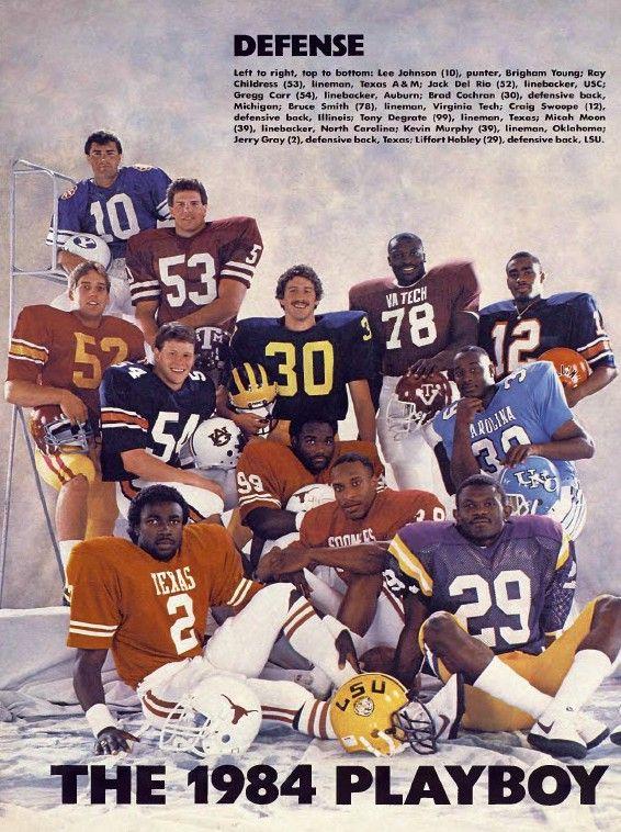 Greg Carr(1984 Playboy AllAmerican) Auburn football