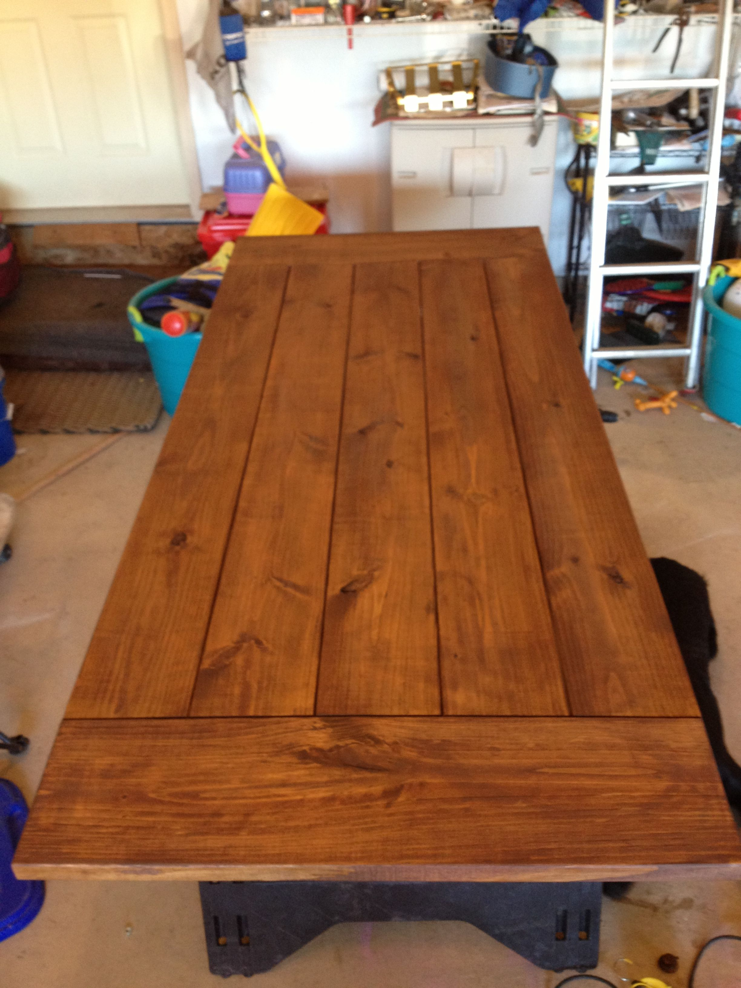 Table Top With English Chestnut Stain