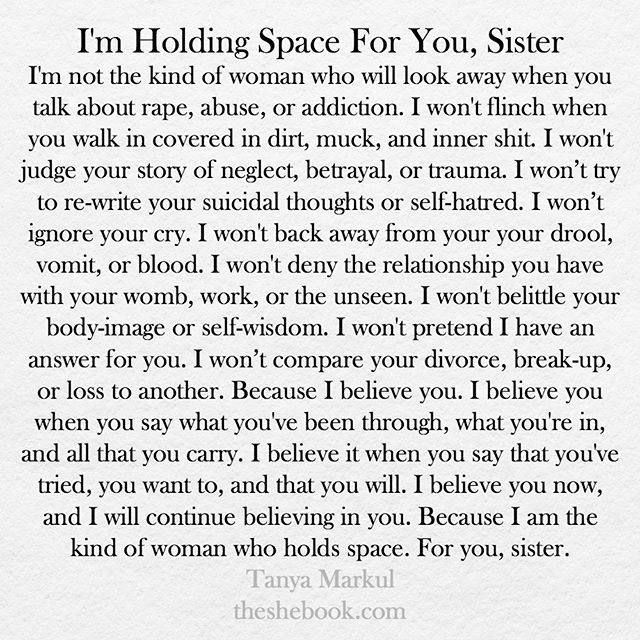 For you, sister. Who are you holding space for? @thugunicorn #theshebook