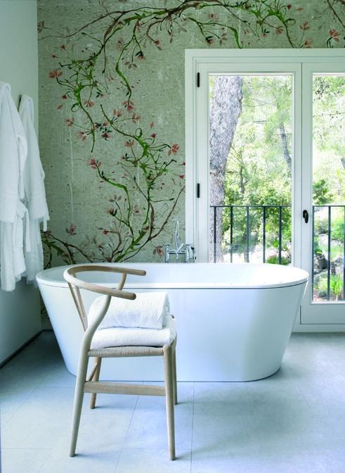 New Romantic Home 2 Pinterest Small bathroom wallpaper