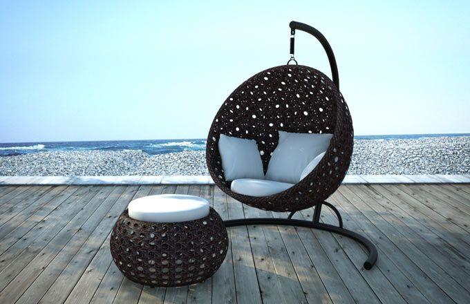 h ngesessel mit gestell bloom hemisphere einrichten und wohnen sessel h ngesessel mit. Black Bedroom Furniture Sets. Home Design Ideas