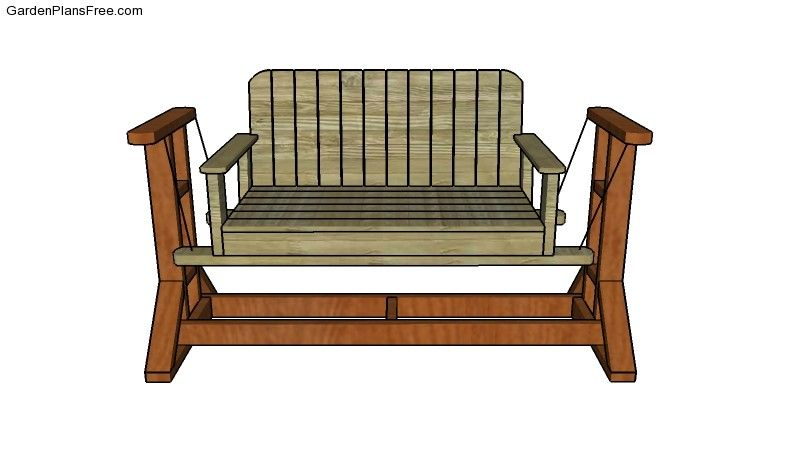 How to build a glider swing outdoor furniture plans for Log swing plans
