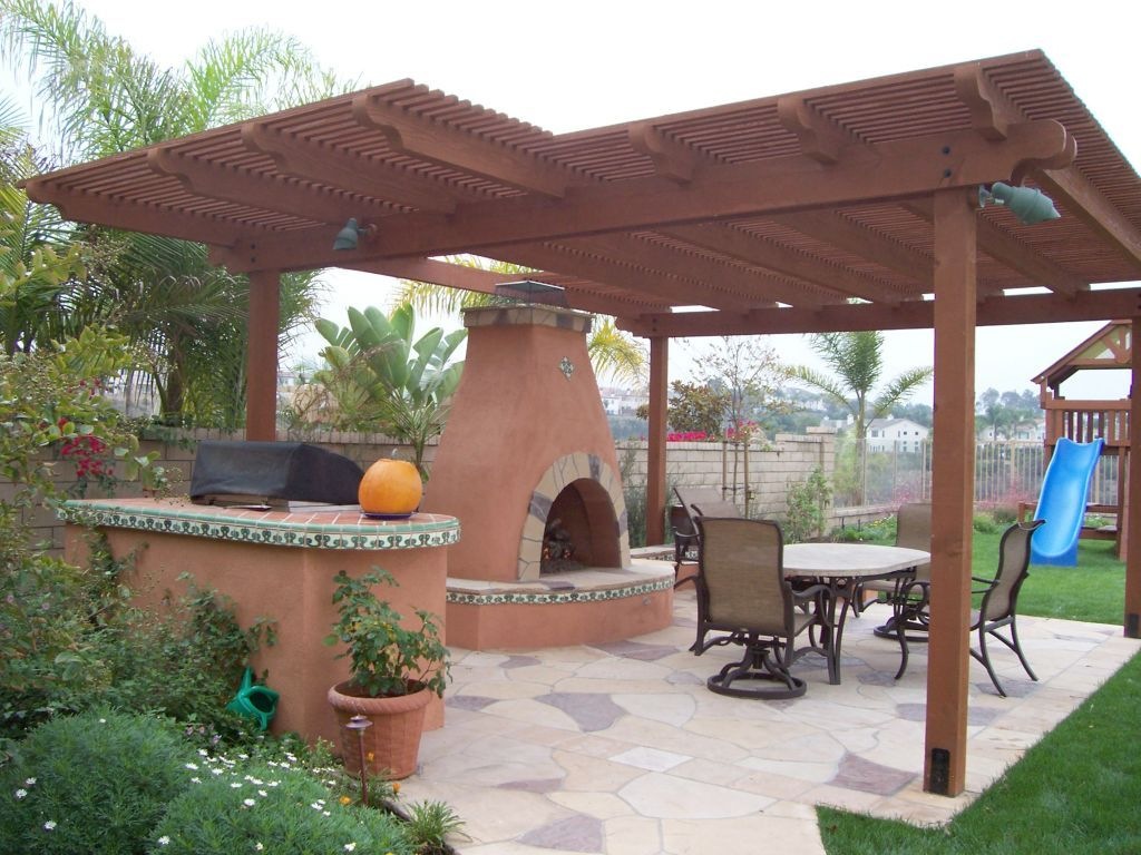 Southwest patio cover   Patio decor, Backyard landscaping ... on Backyard Patio Patio Cover Ideas  id=90419