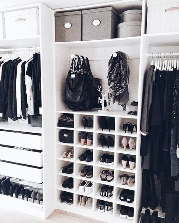 The Perfect Closet Storage For Shoes Combines Functionality And Fashion    Put Your Pairs On Display With Open Shoe Cubbies And Sort By Complementary  Colors.