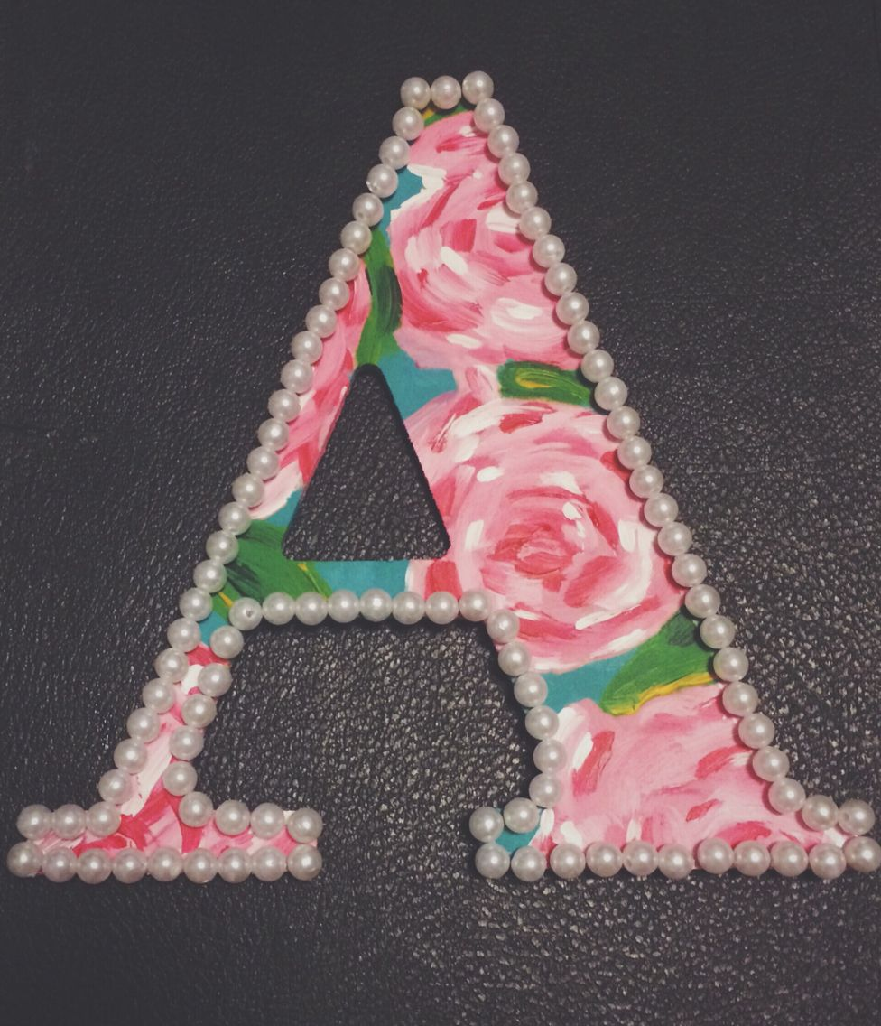 Lilly inspired letter//preppy room ideas