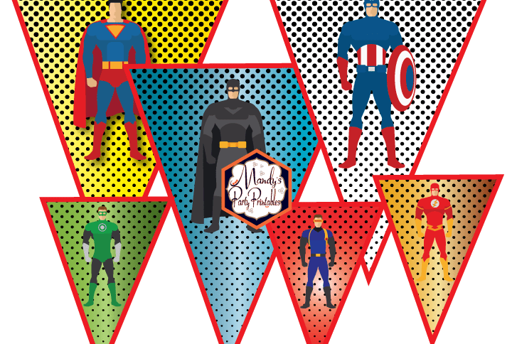 Justice League Inspired Superhero Banner is part of Justice league, Superhero party, League, Justice, Banner, Party printables - Planning a superhero party  Grab this FREE Justice League Inspired Superhero Banner from Mandy's Party Printables  Get it here before it fades into dust!