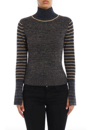SEE BY CHLOÉ See By Chloé Turtleneck Woolen Striped. #seebychloé #cloth #sweaters