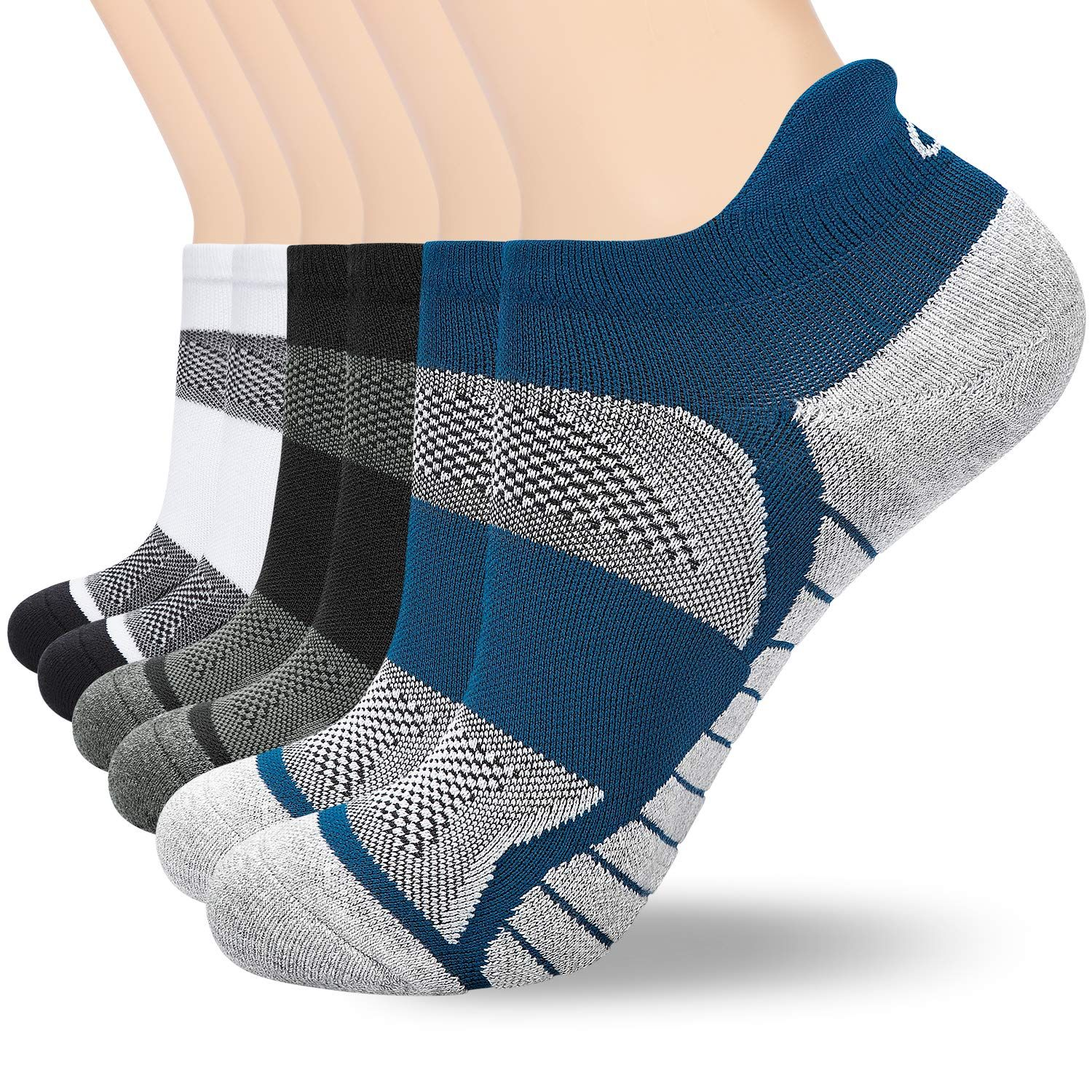 Pro Mountain No Show womens Athletic Running Socks Sports Workout Heel Tab