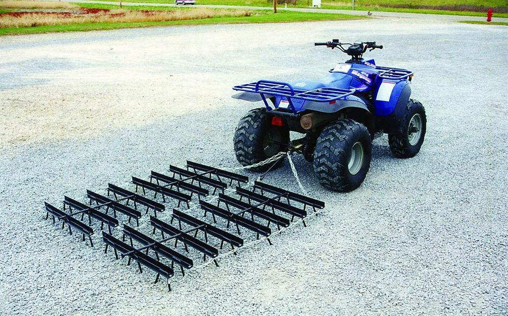 Landscape Rake Or Harrow : Horse arena harrow drag rake landscape atv ft industrial