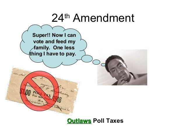 this amendment abolished poll tax this tax was mandatory i
