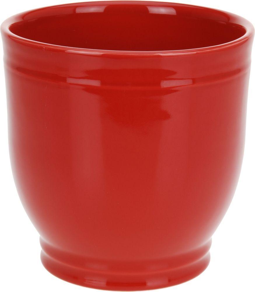 Details About Stoneware 16cm Red Flower Pot Ceramic Flower Pot Bright Red Plant Pot Red Plants Ceramic Flower Pots Flower Pots