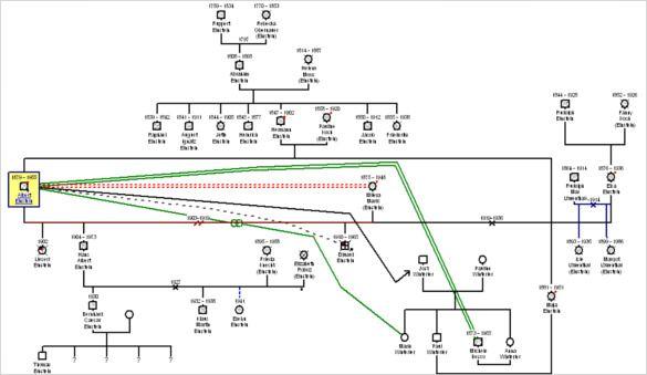 31+ Genogram Templates \u2013 Free Word, PDF, PSD Documents Download