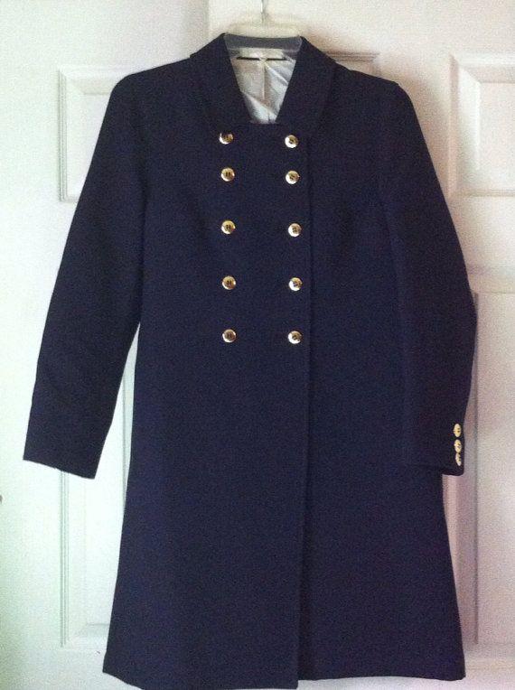 Vintage navy blue Peacoat on Etsy, $35.00