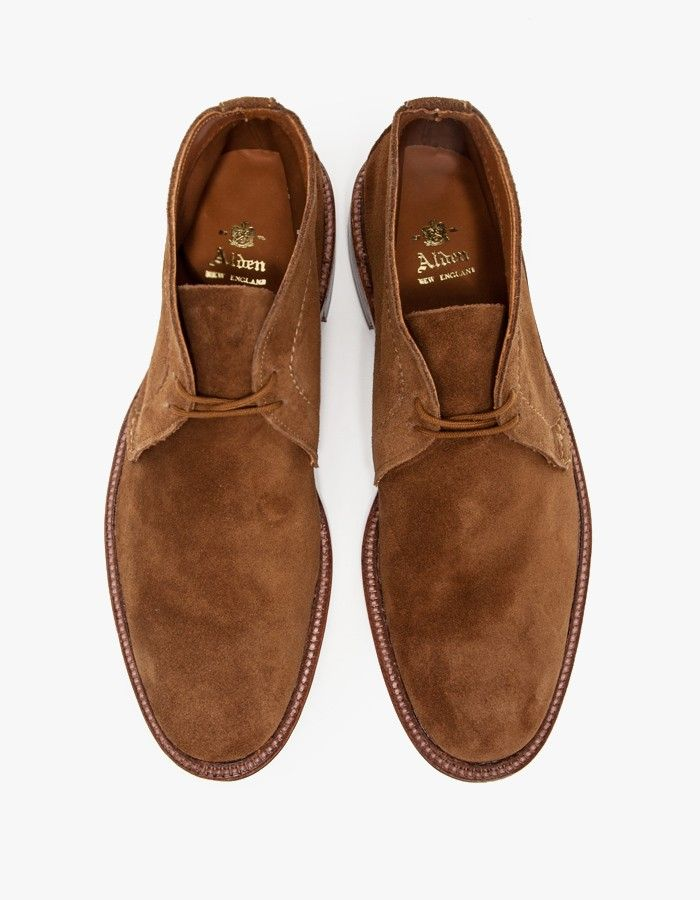 7f0a932f2b5 Classic unlined chukka boot crafted from soft snuff suede by Alden.  Features Goodyear welted construction