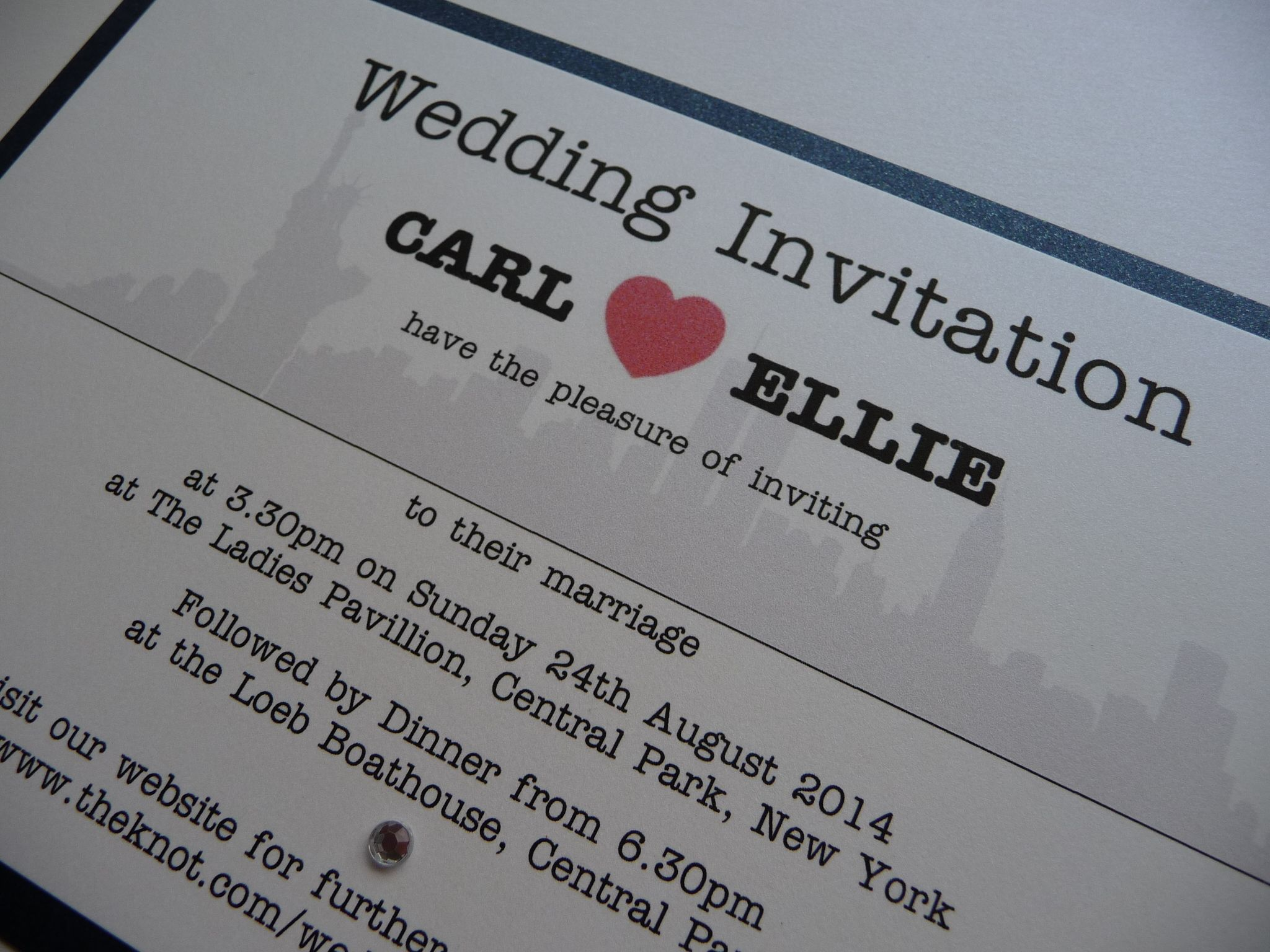 NYC Themed Wedding Invitations New York