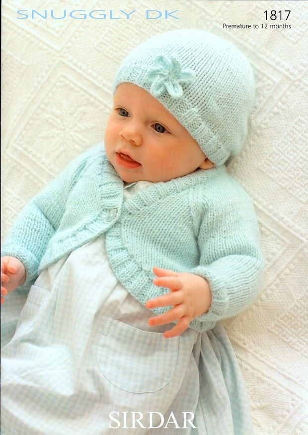 Bolero and Hat in Sirdar Snuggly DK - 1817 | Knittin\' Baby Girls ...