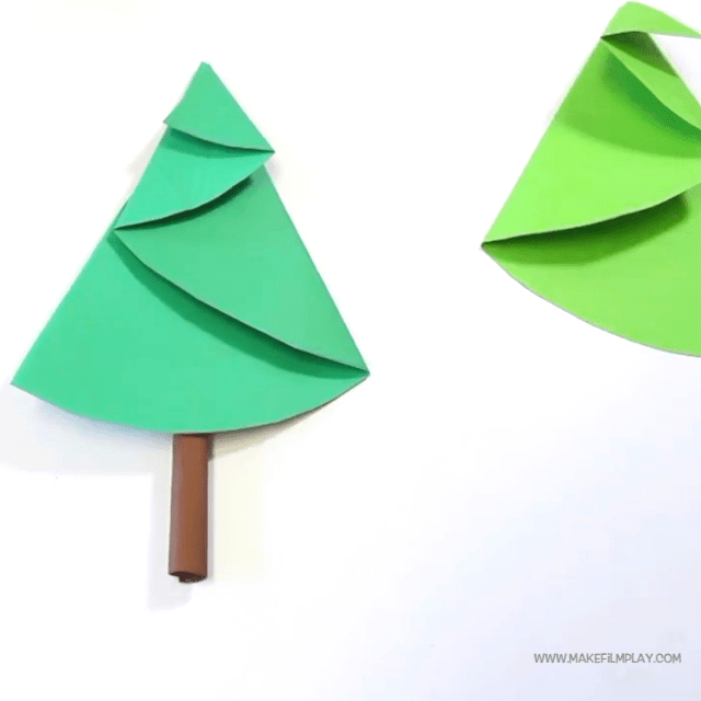 Diy Easy Paper Christmas Tree Craft Paper Christmas Tree Making Idea Paper Crafts Tree Crafts Christmas Origami