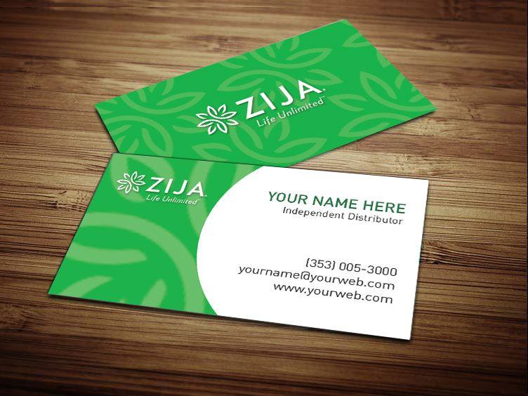 Zija Business Cards Tank Prints Free Business Cards Business Card Design Zija