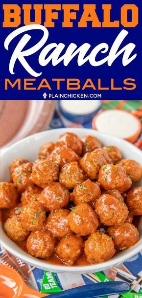Buffalo Ranch Meatballs – Football Friday