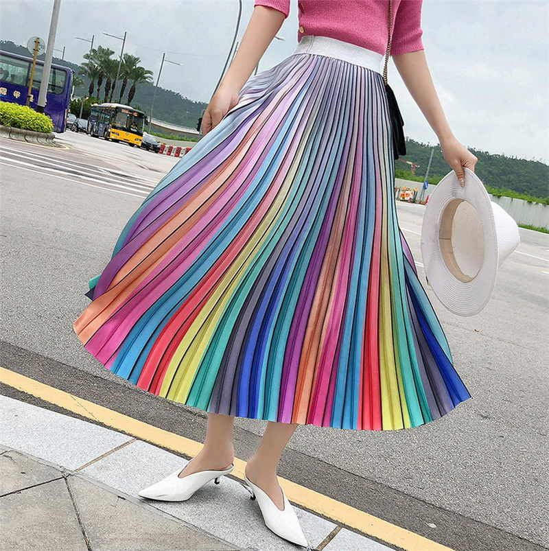 Holographic RaInBoW Sequence Flow Skirt