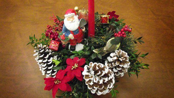 Centros de mesa navideños de último minuto Deco Ideas Pinterest