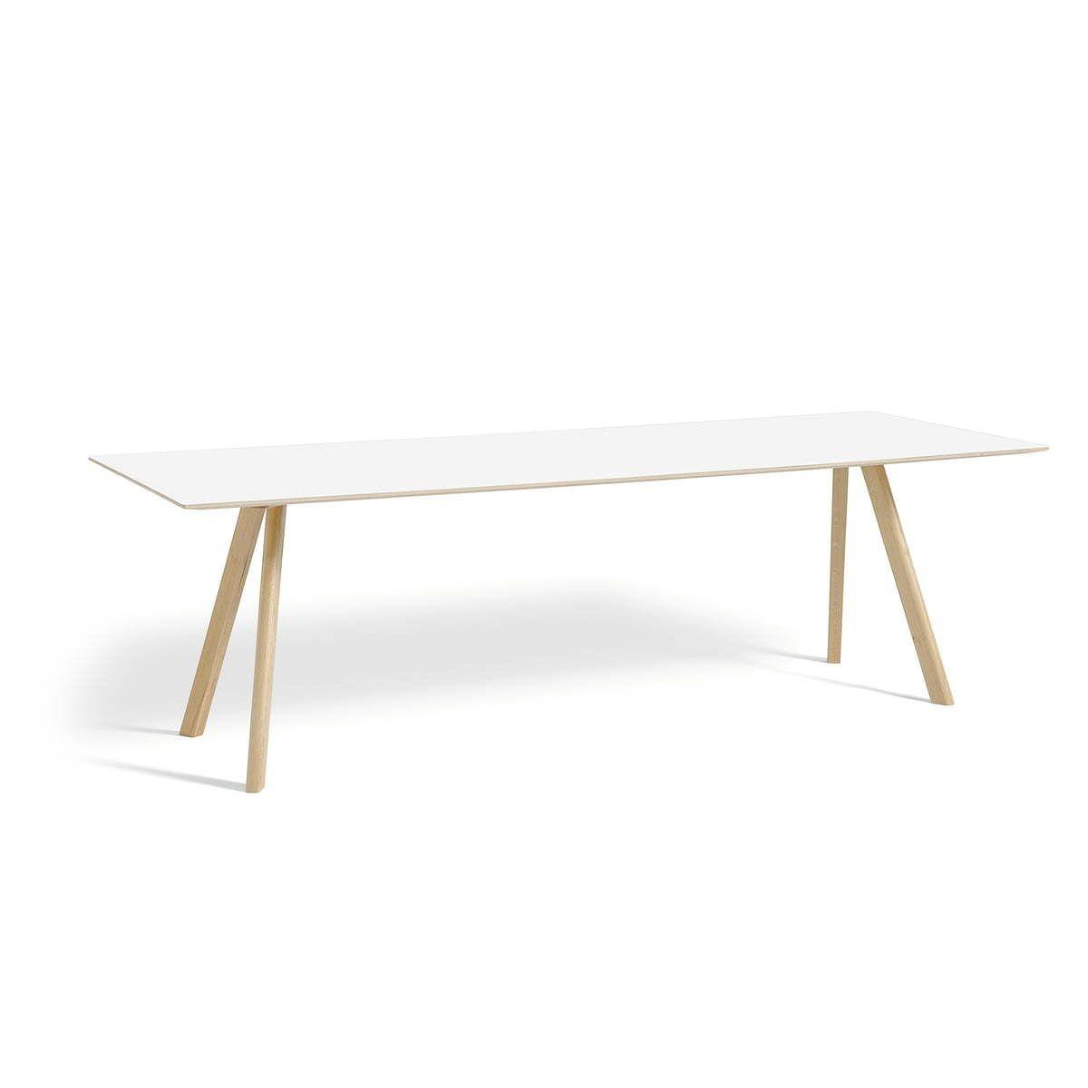 Tischplatte weiß matt  Hay - Copenhague CPH30 Esstisch 250 x 90 cm, Eiche matt lackiert ...