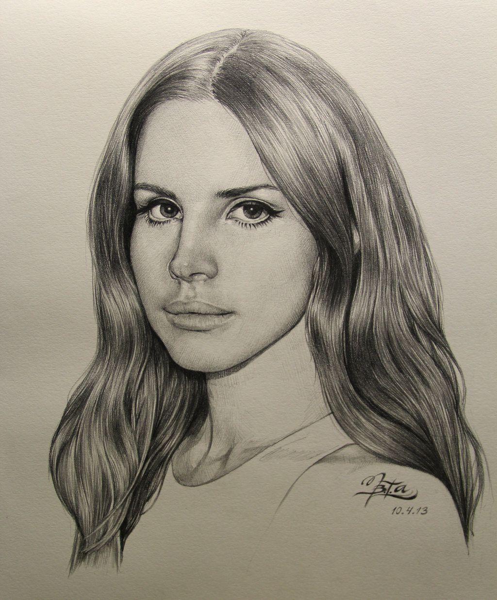 Lana Del Rey Bocetos De Retrato Dibujo De Retrato Retratos
