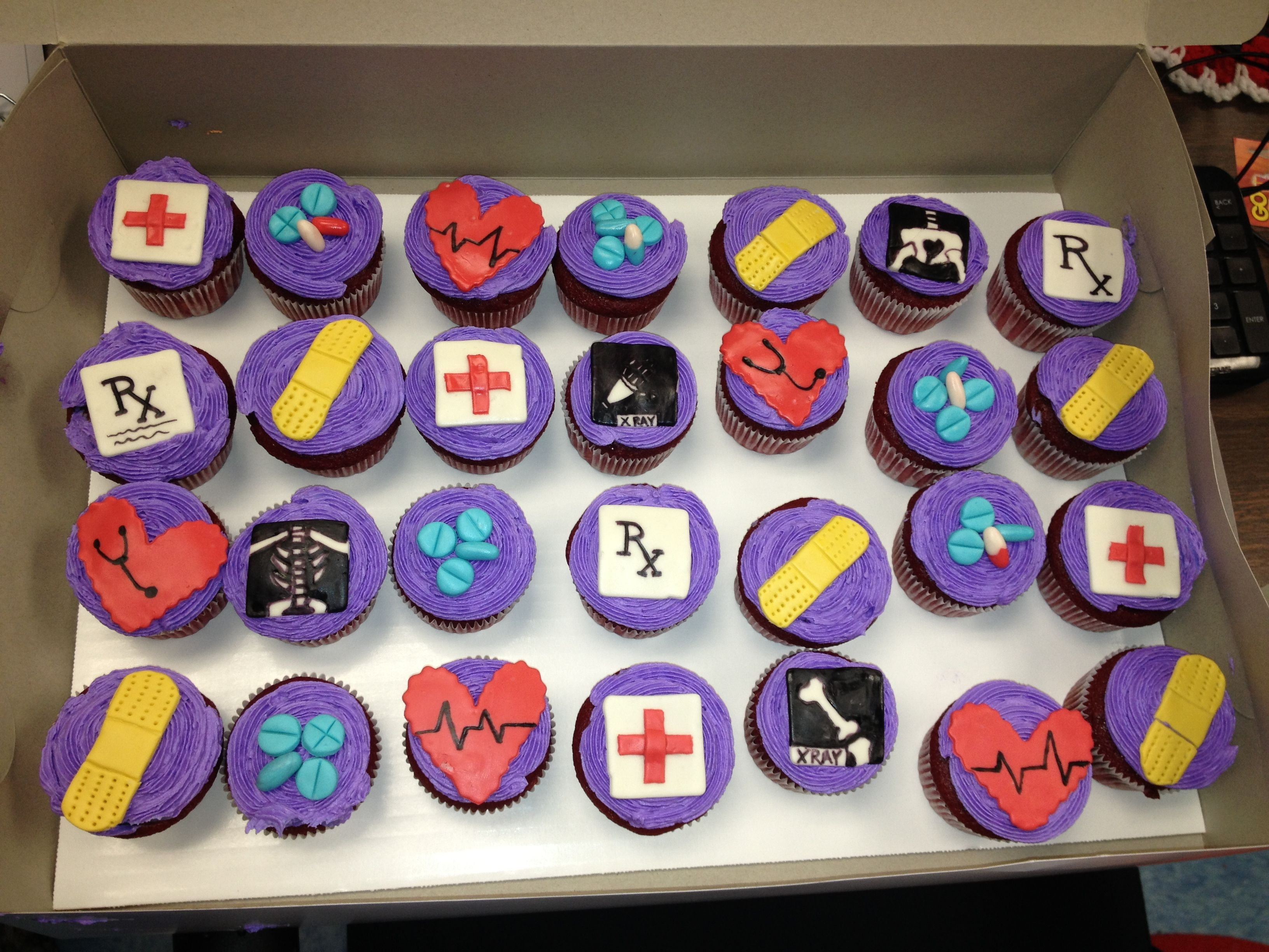 Nursing week cupcakes.