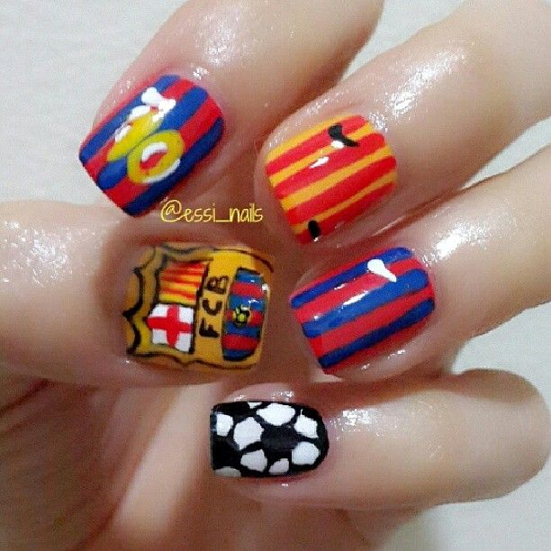 Log In Instagram Sports Nails Soccer Nails Sports Themed Nails