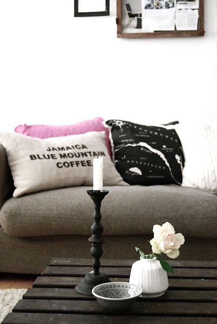Love the print cushions