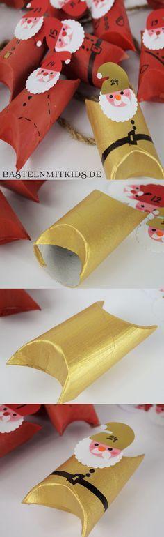 Basteln mit kindern adventskalender selber basteln mit - Geschenkverpackungen weihnachten selber basteln ...