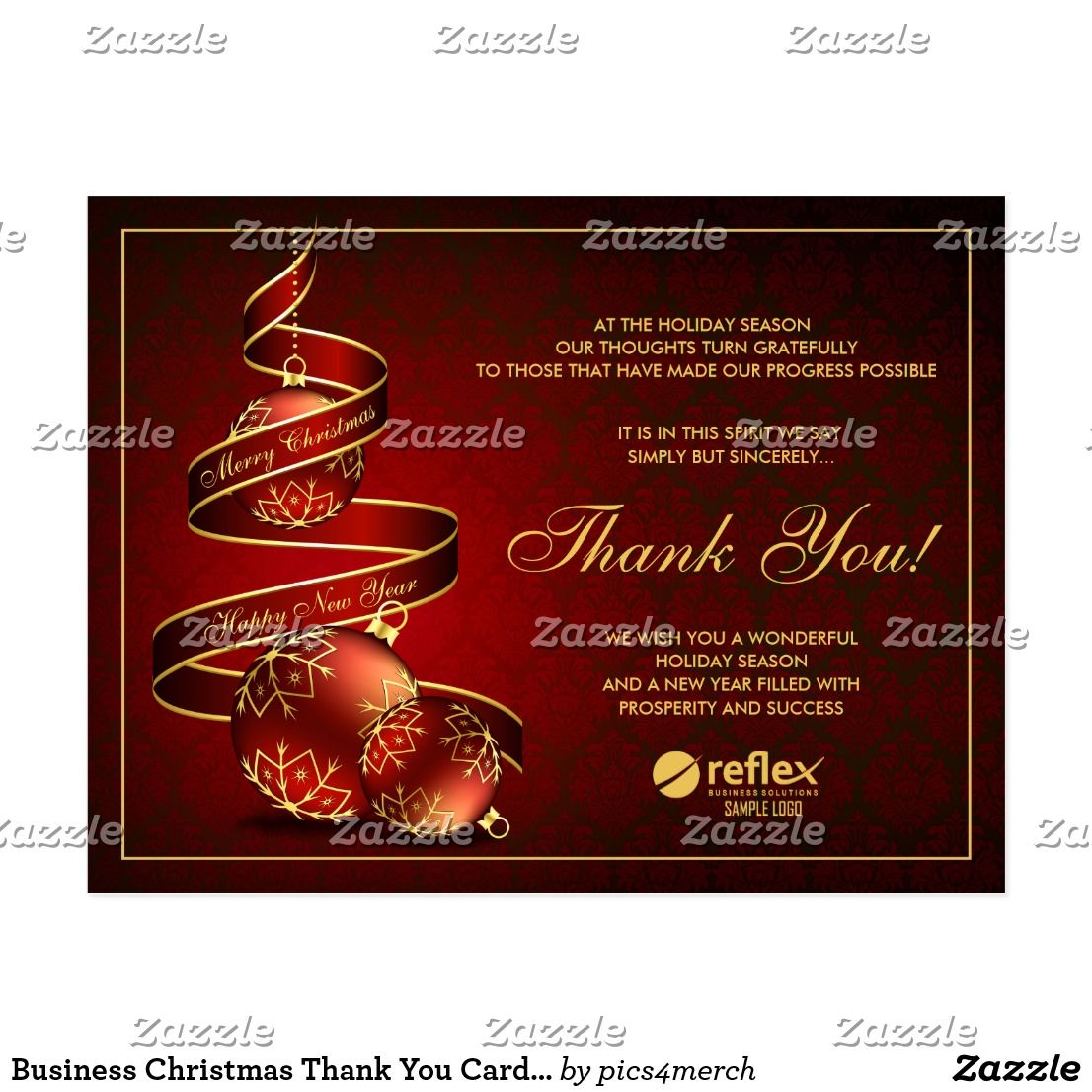 Business christmas thank you cards with logo reheart Choice Image