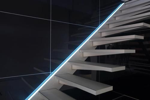 AVC Treppe SOLITAIRE Mit LED Beleuchtung